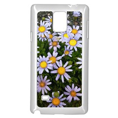 Yellow White Daisy Flowers Samsung Galaxy Note 4 Case (White)