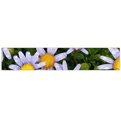 Yellow White Daisy Flowers Flano Scarf (Large)