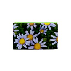 Yellow White Daisy Flowers Cosmetic Bag (XS)