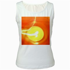 Orange Yellow Flame 5000 Women s Tank Top (White)