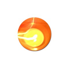 Orange Yellow Flame 5000 Golf Ball Marker