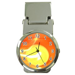 Orange Yellow Flame 5000 Money Clip with Watch