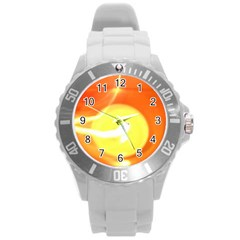 Orange Yellow Flame 5000 Plastic Sport Watch (Large)