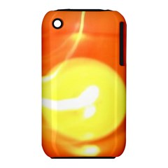 Orange Yellow Flame 5000 Apple Iphone 3g/3gs Hardshell Case (pc+silicone)