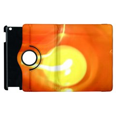 Orange Yellow Flame 5000 Apple iPad 3/4 Flip 360 Case