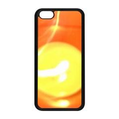 Orange Yellow Flame 5000 Apple iPhone 5C Seamless Case (Black)