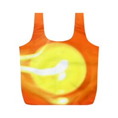 Orange Yellow Flame 5000 Reusable Bag (M)