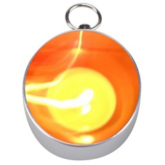 Orange Yellow Flame 5000 Silver Compass