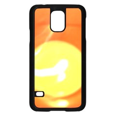 Orange Yellow Flame 5000 Samsung Galaxy S5 Case (Black)