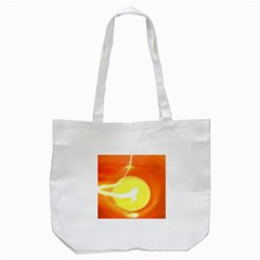 Orange Yellow Flame 5000 Tote Bag (White)