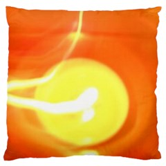 Orange Yellow Flame 5000 Standard Flano Cushion Case (Two Sides)