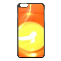 Orange Yellow Flame 5000 Apple iPhone 6 Plus Black Enamel Case
