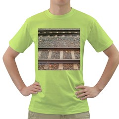 Railway Track Train Men s T-shirt (Green)