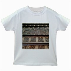 Railway Track Train Kids T-shirt (White)