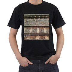 Railway Track Train Men s Two Sided T-shirt (Black)