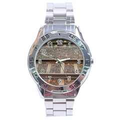 Railway Track Train Stainless Steel Watch