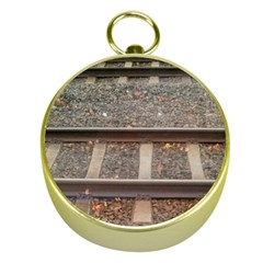 Railway Track Train Gold Compass