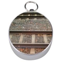 Railway Track Train Silver Compass