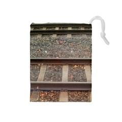 Railway Track Train Drawstring Pouch (medium)