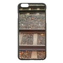 Railway Track Train Apple Iphone 6 Plus Black Enamel Case