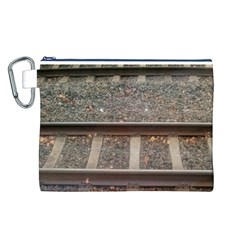 Railway Track Train Canvas Cosmetic Bag (Large)