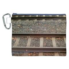 Railway Track Train Canvas Cosmetic Bag (XXL)