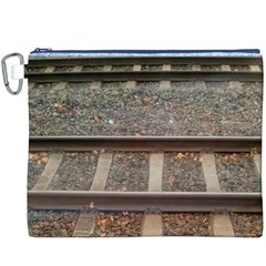 Railway Track Train Canvas Cosmetic Bag (XXXL)