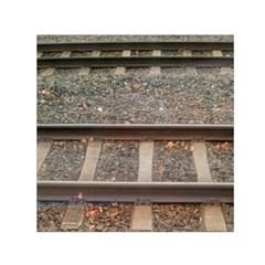 Railway Track Train Small Satin Scarf (Square)