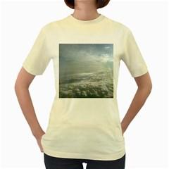 Sky Plane View Women s T-shirt (Yellow)