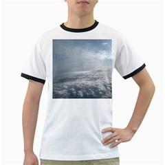 Sky Plane View Men s Ringer T-shirt