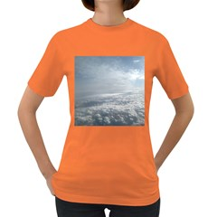 Sky Plane View Women s T-shirt (Colored)