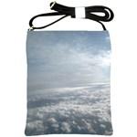 Sky Plane View Shoulder Sling Bag Front