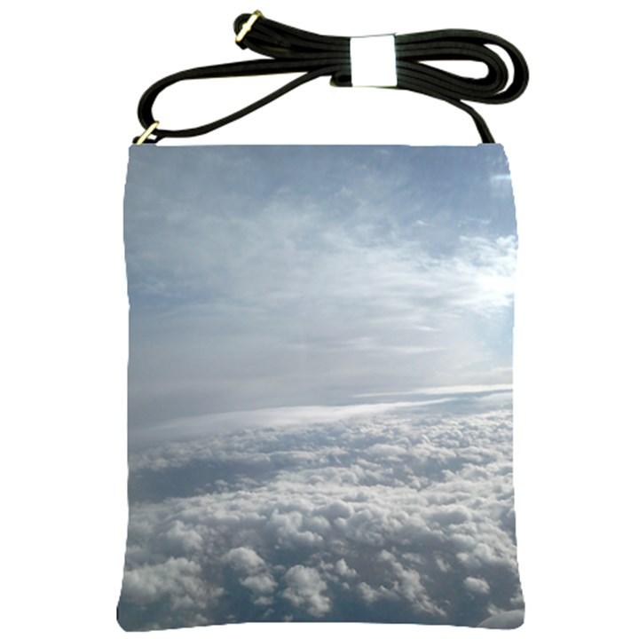 Sky Plane View Shoulder Sling Bag