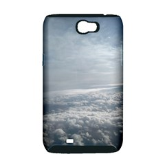 Sky Plane View Samsung Galaxy Note 2 Hardshell Case (PC+Silicone)