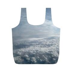 Sky Plane View Reusable Bag (m)
