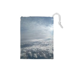 Sky Plane View Drawstring Pouch (Small)