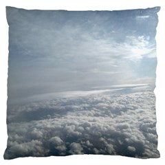 Sky Plane View Large Flano Cushion Case (One Side)