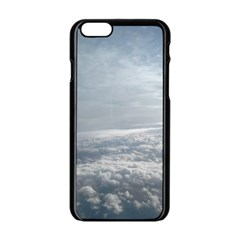 Sky Plane View Apple iPhone 6 Black Enamel Case