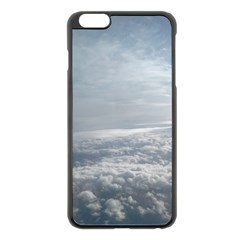 Sky Plane View Apple iPhone 6 Plus Black Enamel Case