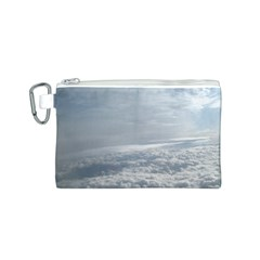 Sky Plane View Canvas Cosmetic Bag (Small)