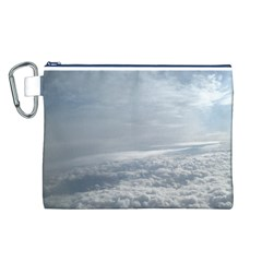 Sky Plane View Canvas Cosmetic Bag (Large)