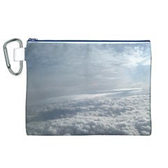 Sky Plane View Canvas Cosmetic Bag (XL)