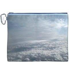 Sky Plane View Canvas Cosmetic Bag (XXXL)