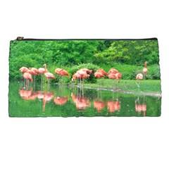 Flamingo Birds at lake Pencil Case