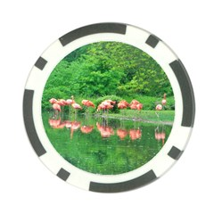 Flamingo Birds At Lake Poker Chip (10 Pack)