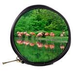 Flamingo Birds at lake Mini Makeup Case Back
