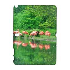 Flamingo Birds At Lake Samsung Galaxy Note 10 1 (p600) Hardshell Case