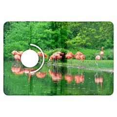 Flamingo Birds at lake Kindle Fire HDX Flip 360 Case