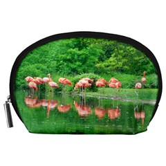 Flamingo Birds at lake Accessory Pouch (Large)