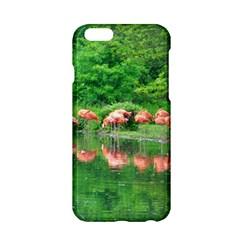 Flamingo Birds at lake Apple iPhone 6 Hardshell Case